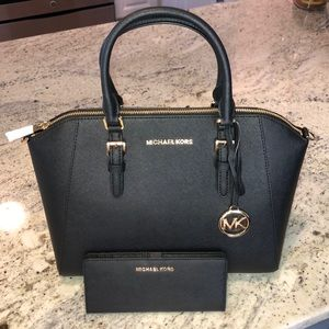 Michael Kors Ciara Large Satchel Bag + Wallet Set